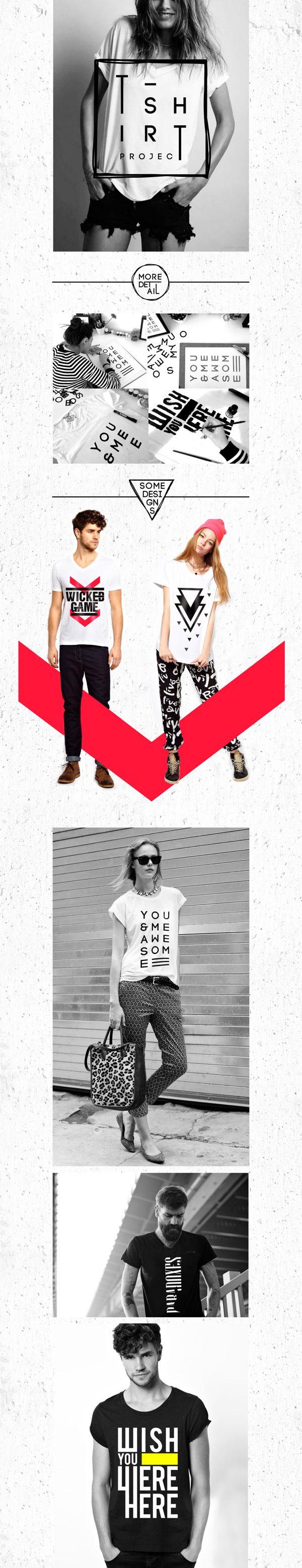 T-shirt design by Tugba Guler via Behance. I really like how she combines geometric elements with type.