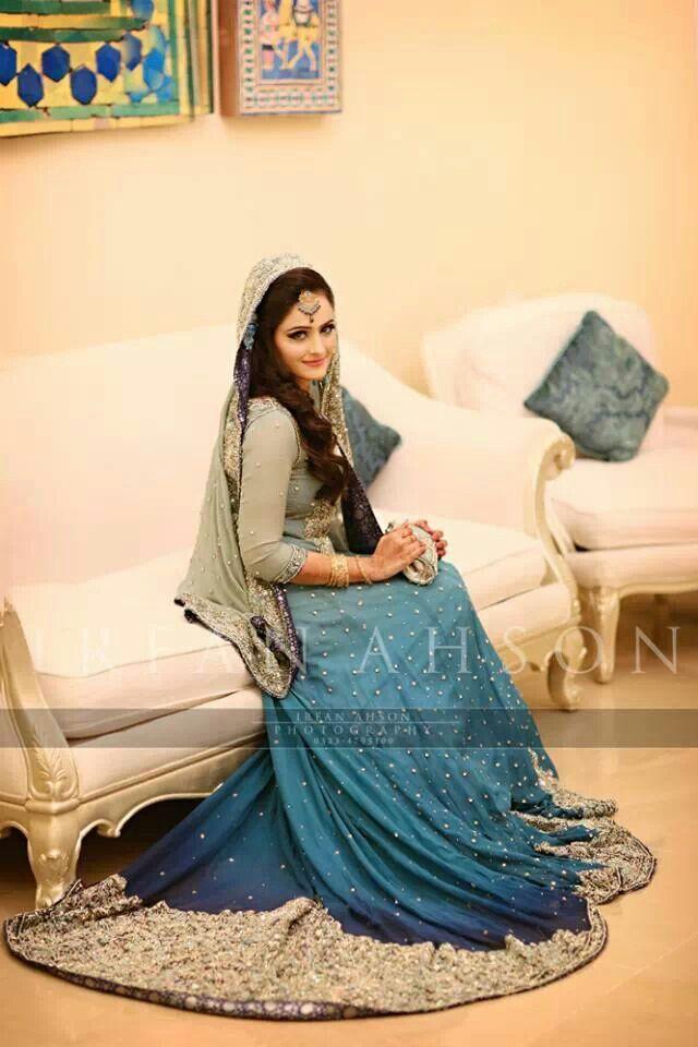 Pakistani dresses...Haroon Sarhal.