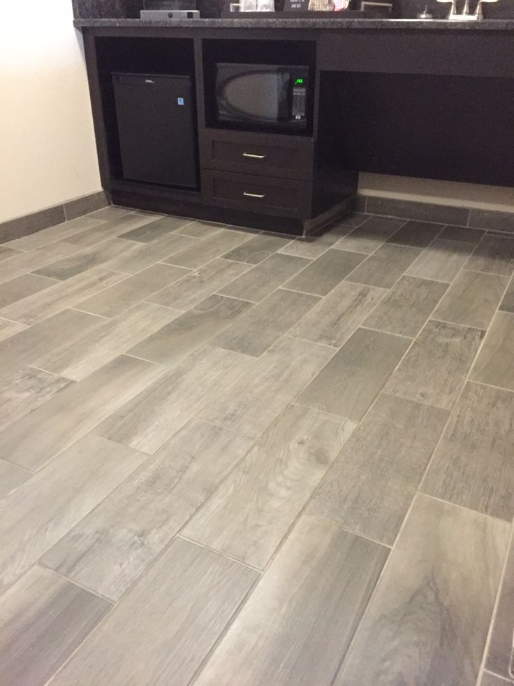 Daltile Emblem Gray 7x20 Daltile Wood Look Tile Floor
