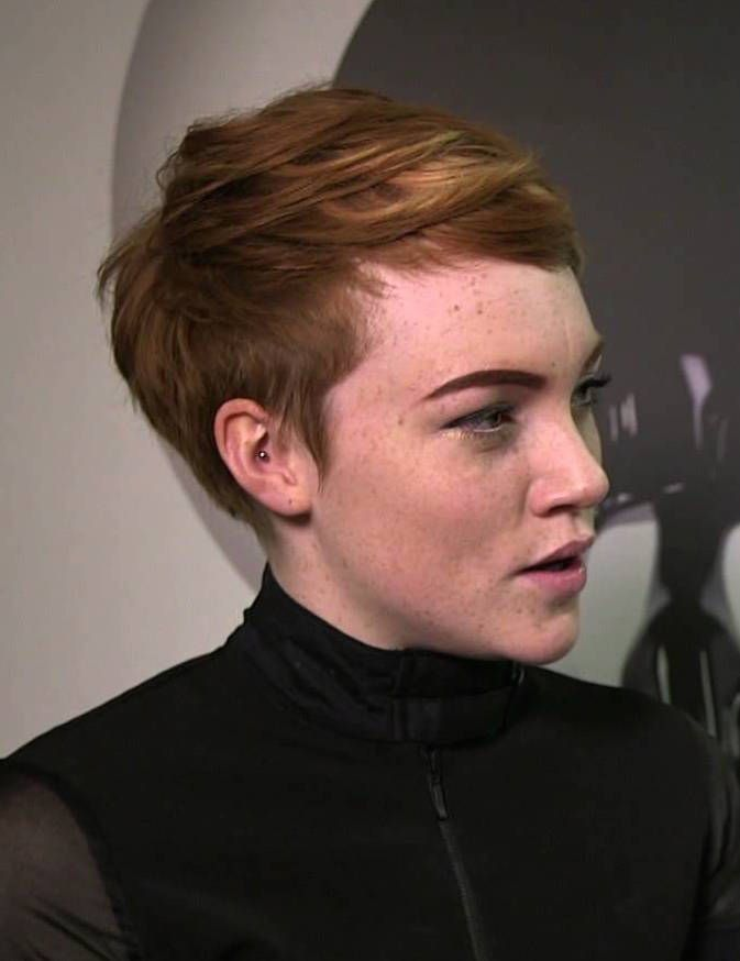 Chloe Howl pixie short haircut