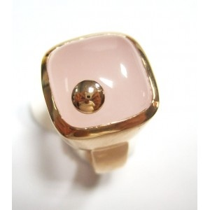 Anillo Summer. Anillo de plata chapada con cuarzo rosa
