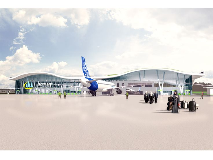 """Szymany Airport  """"Air"""" door of Warmia i Mazury (northern Poland) by FAAB (competition proposal). An estimated 300-500 thousand passangers expected to travel through the airport every year."""