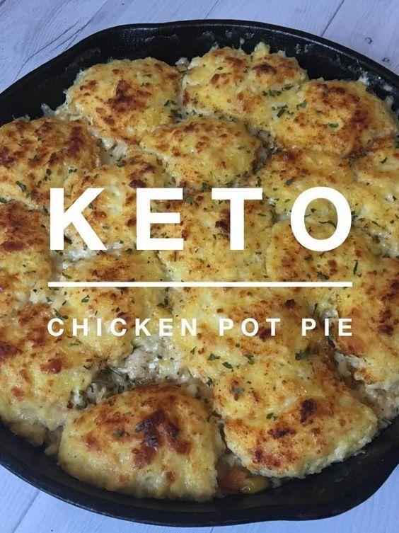 Keto Chicken Pot Pie #keto #ketorecipes #easyrecipes #ketochicken #kaseytrenum