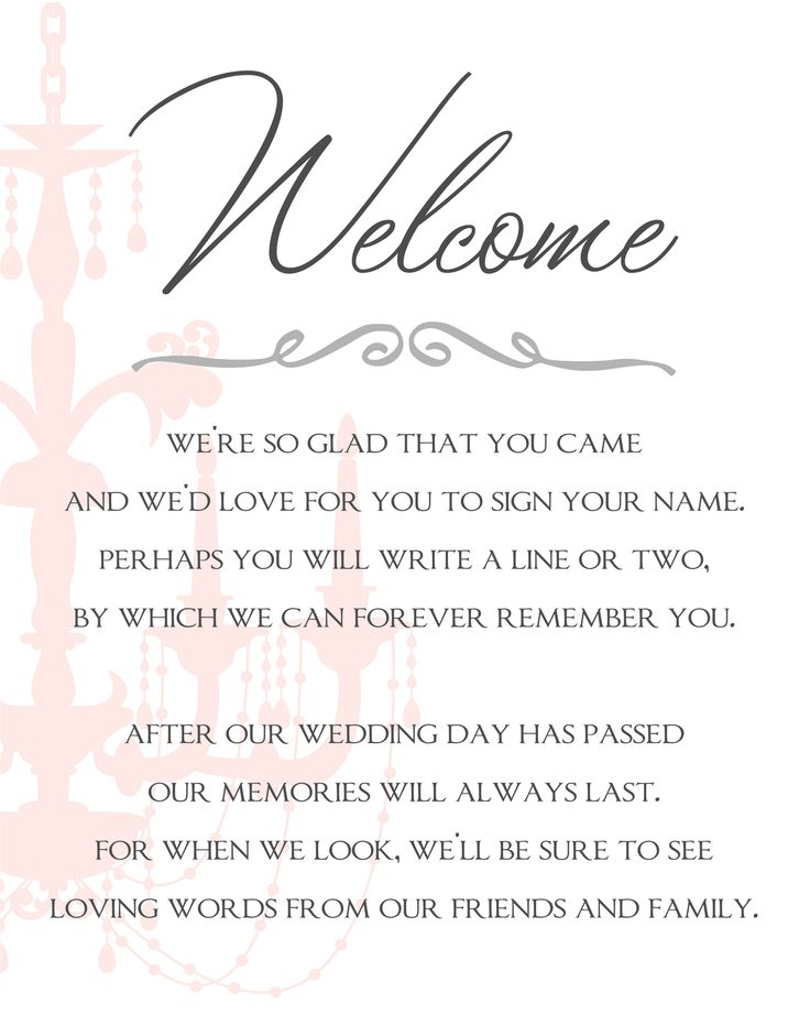 35 best images about printable wedding programs – Sample Guest Book Template