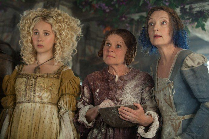 Imelda Staunton, Lesley Manville and Juno Temple in Maleficent (2014)