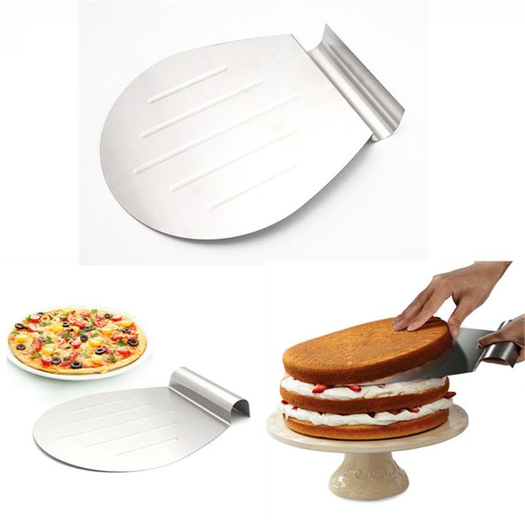 Stainless Steel Cake Baking Tools Cake Pizza Shovel Transfer Cake Tray Moving Plate Cake Lifter DIY Baking & Pastry Tool #Affiliate