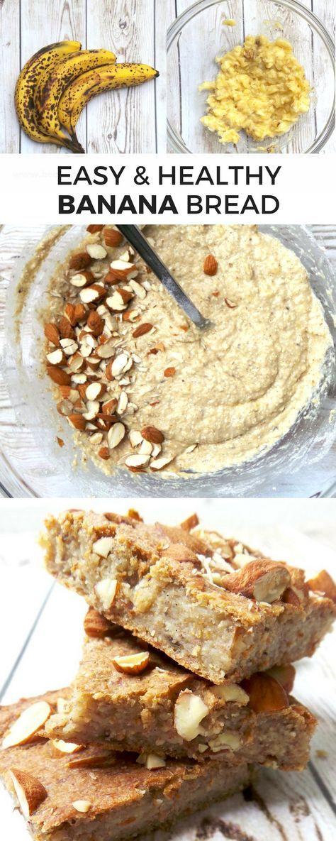 Healthful Banana Bread, Simple, Extreme-Fiber, Sugar-Free and Flourless