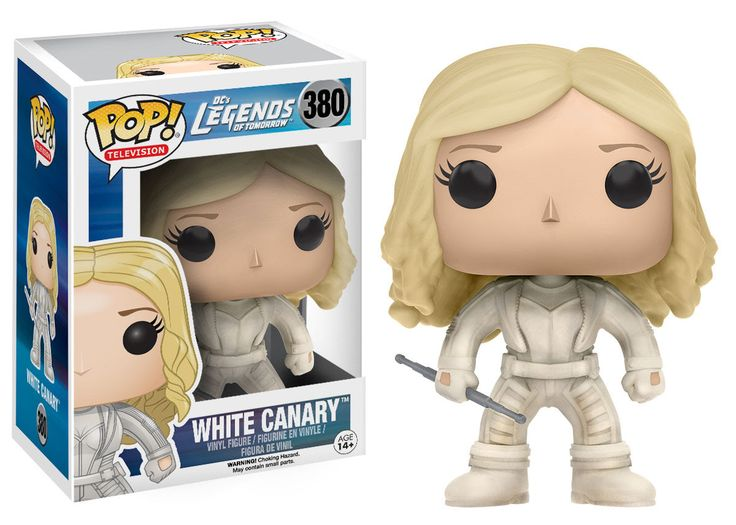 White Canary Funko Pop! DC Legends of Tomorrow Collect the Legends of Tomorrow! Based on the CW series Legends of Tomorrow, this figure captures White Canary as a stylized Pop! Vinyl Figure. Packaged
