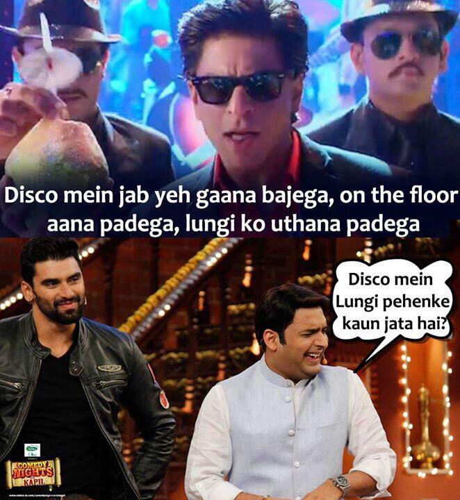 Chennai Express joke for Lungi Dance feat, Shahrukh Khan and Kapil Sharma