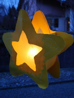 Lovely lantern for Martinmas! via mamas kram: Liechtli mi