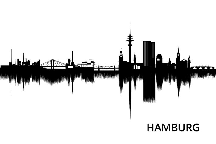 hamburg skyline stadt stadtportrait kunst art poster amazing beautiful skyline gtr. Black Bedroom Furniture Sets. Home Design Ideas
