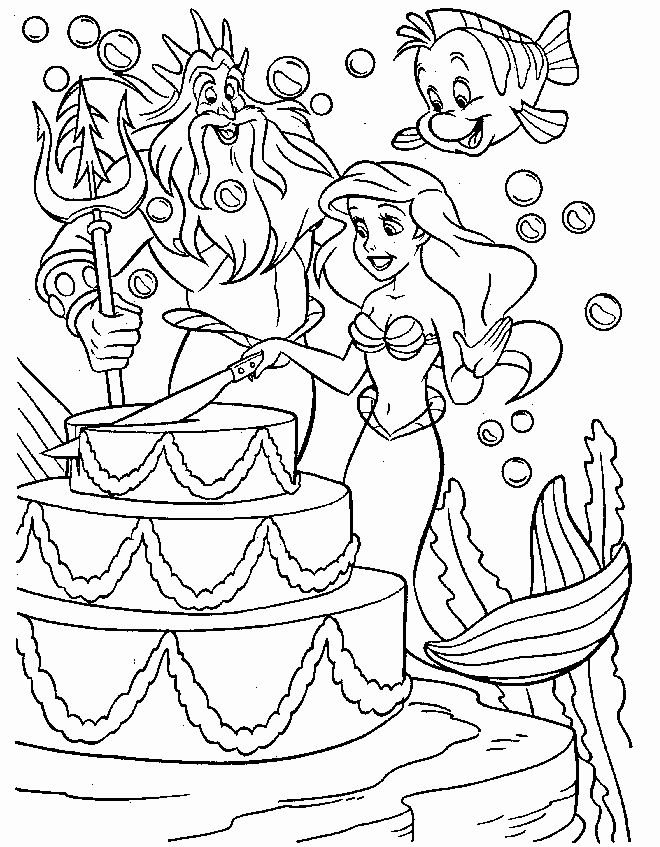 Little Mermaid Coloring Book Elegant Free Printable Little Mermaid Coloring Pages For Happy Birthday Coloring Pages Ariel Coloring Pages Disney Coloring Pages
