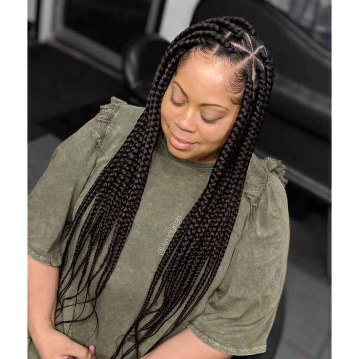 Book Under Knotless Box Braids Big Box Braids Braided