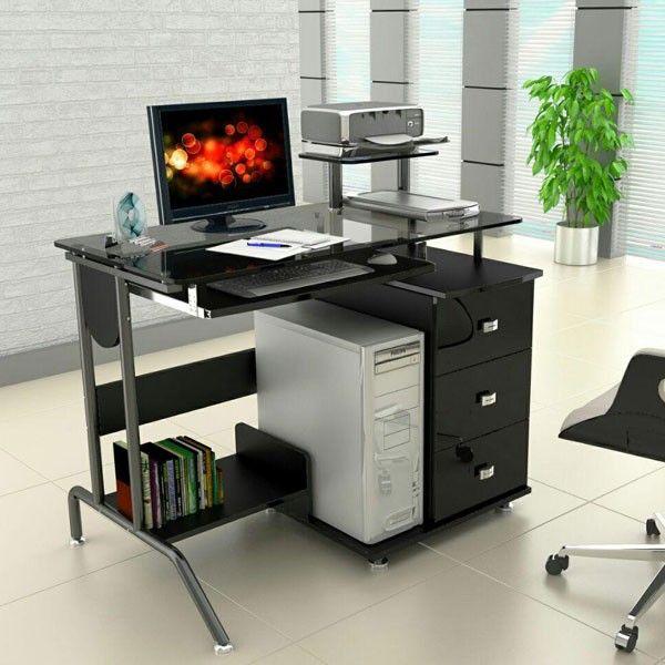 die besten 25 computertisch glas ideen auf pinterest. Black Bedroom Furniture Sets. Home Design Ideas