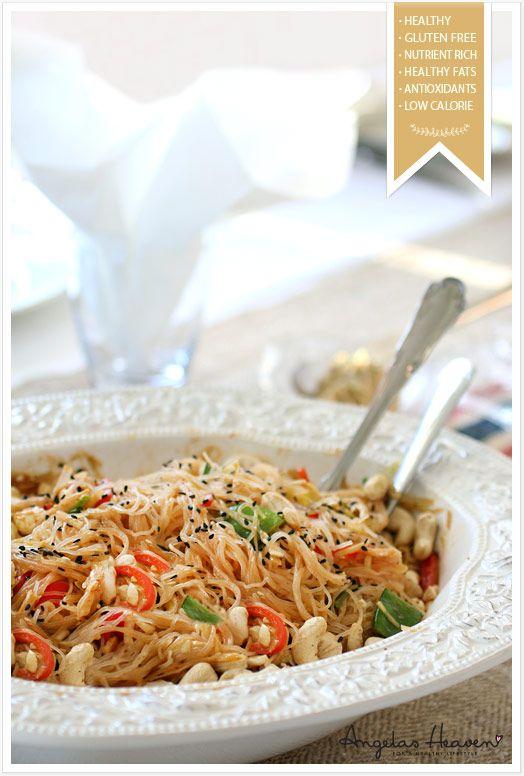 Vegetarisk wok med lchf nudlar