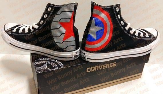Marvel shoes, Painted shoes
