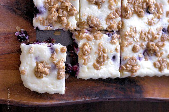La Petite Brioche: Blueberry Cheesecake Bars This blog has the best recipes!