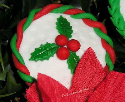 Cupcakes Navideños decorados con Fondant