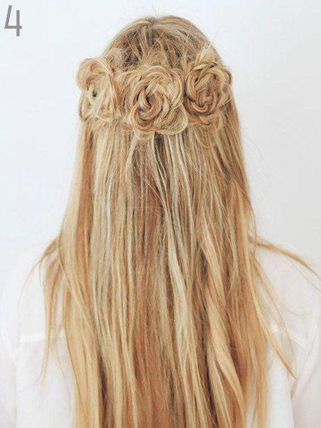 розы из волос