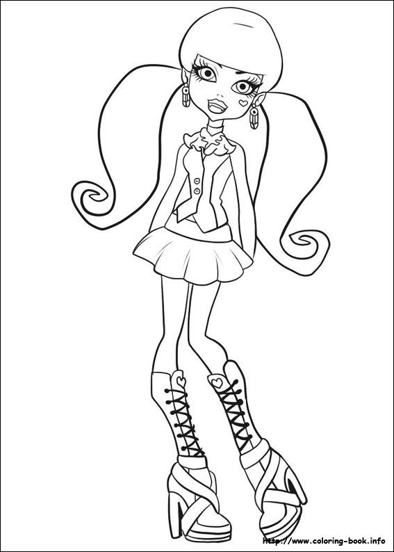 Monster High coloring picture
