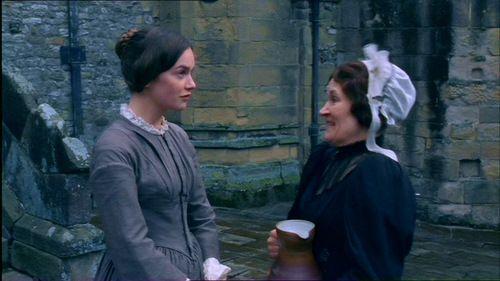 Ruth WIlson (Jane Eyre) & Lorraine Ashbourne (Mrs. Fairfax) - Jane Eyre directed by Susanna White (TV Mini-Series, BBC, 2006)