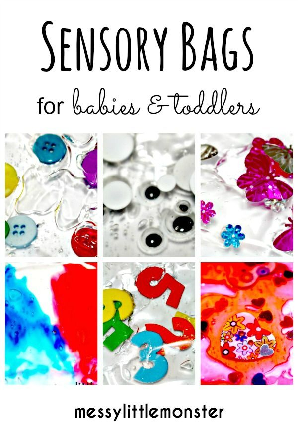 Messy Little Monster: How to make sensory bags for babies and toddlers