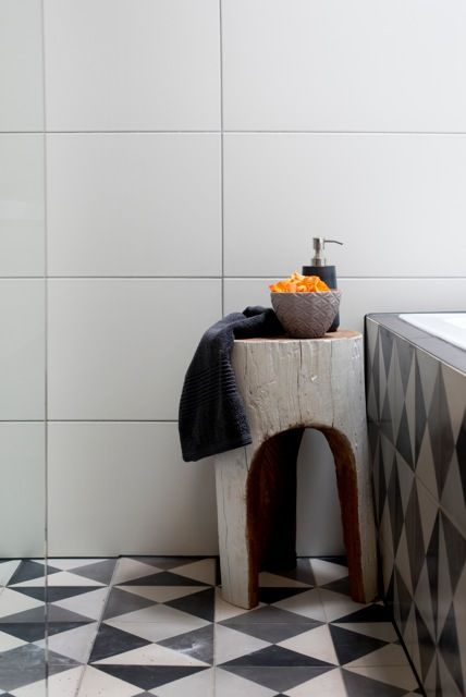 Popham Tiles create a point of interest and pop of colour ....