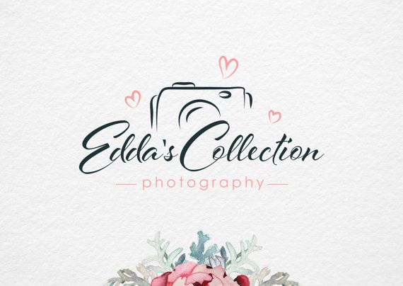 Photography Logo, Premade Photography Logo Design, Pre-Made Logo, Camera Love Logo