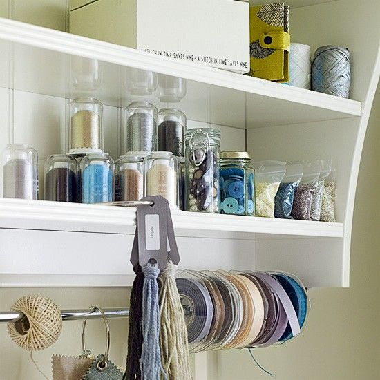 Home office shelving system
