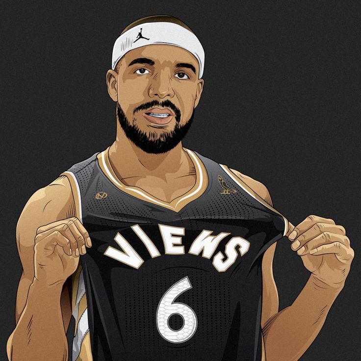 drake x toronto raptors views illustration art. Black Bedroom Furniture Sets. Home Design Ideas