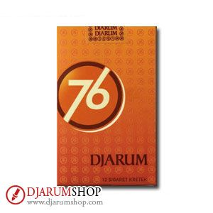 A joy to savor. Djarum 76 is the result of a secret, sacred recipe with a history stretching over 120 years back. Made of mature tobacco, top grade Srintil tobacco and a variety of traditional Indonesian spices.