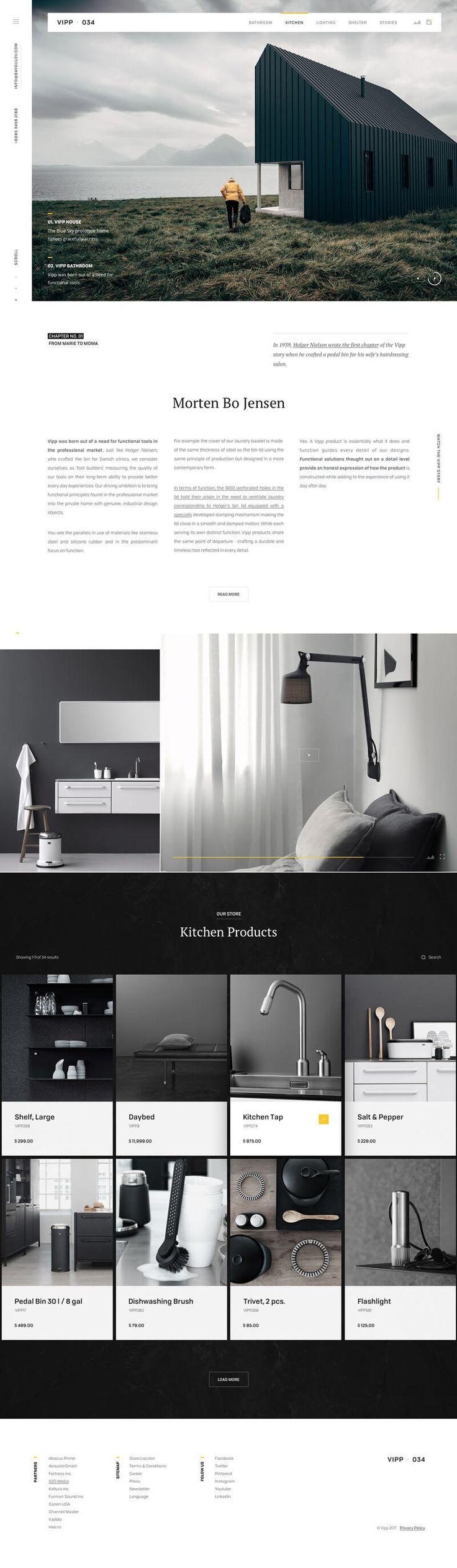 Vipp-Furniture-Site #ui #ux#userexperience #website #webdesign #design