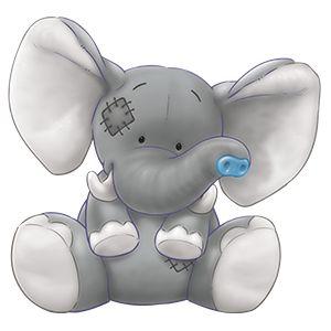 Elefantinho com Nariz Azul