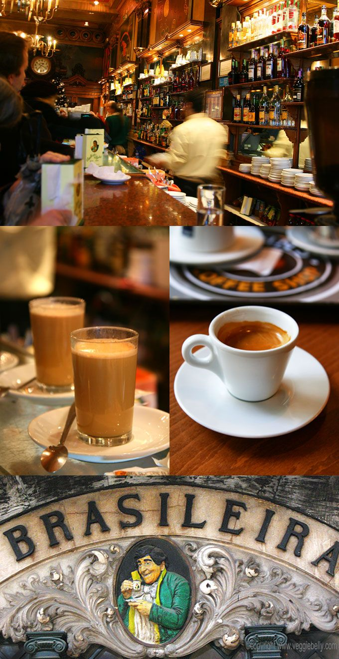 Foto: Lisbon, Famous Brasileira Coffee Shop. Basic to our roots @vida e cafe.#coffee inspiration