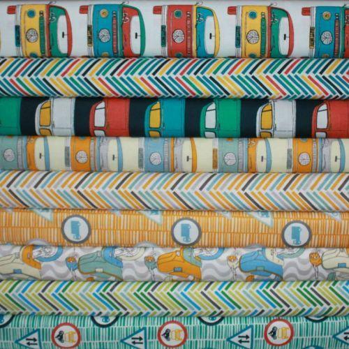 Retro Road Trip FQ Fabric Bundle