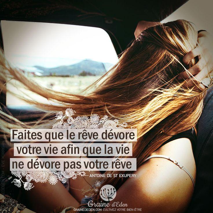Faites que le rêve dévore votre vie afin que la vie ne dévore pas votre rêve. – ANTOINE DE SAINT EXUPERY –