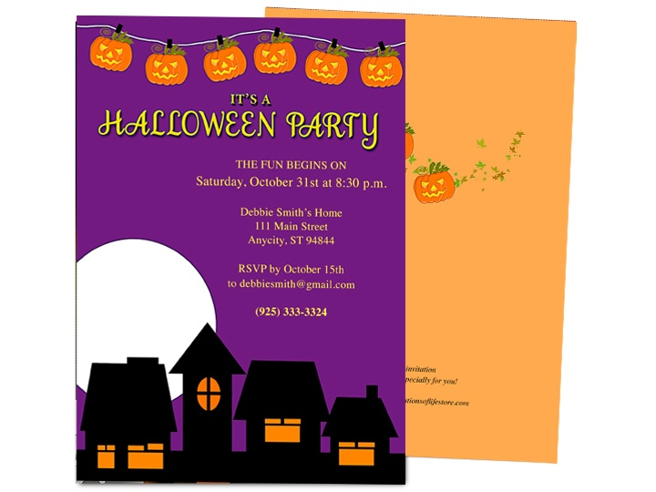 32 best Halloween Party Invitations DIY Printable Templates images - invitation templates for microsoft word