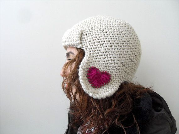 Knitting Gifts For Adults : Winter accessories heart knit hat valentines day gift