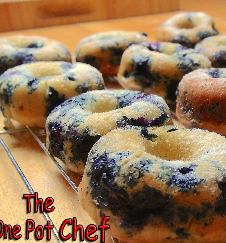 Yum...Oven Baked Blueberry Donut Recipe: Making donuts has never been easier with this no-fry donut recipe that will make you never want to pay money for donuts again. And all you need is some basic ingredients and your oven.
