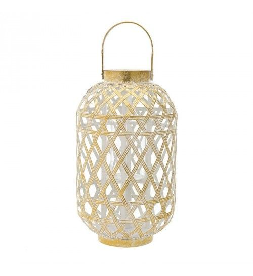 METALLIC LANTERN IN GOLDEN COLOR D24_4X41