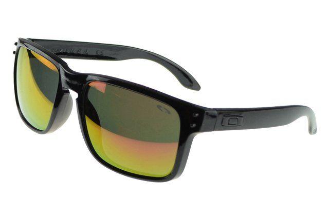 Cheapest Oakley Holbrook Sunglasses black Frame yellow Lens#Oakley Sunglasses