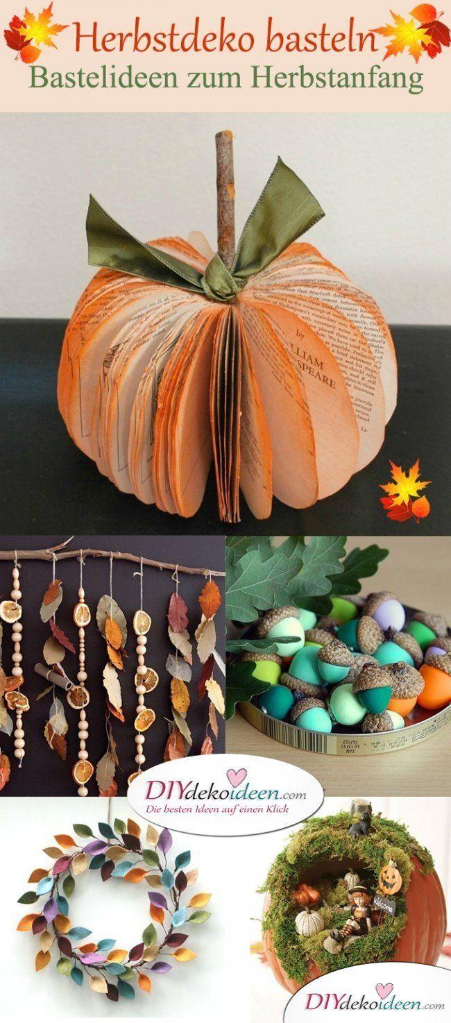 Herbstdekoration basteln – Tolle Bastelideen für den Herbstanfang   – herbst halloween