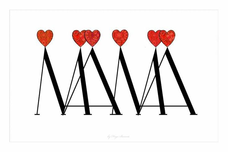 Mamá corazón. Original firmado y seriado.