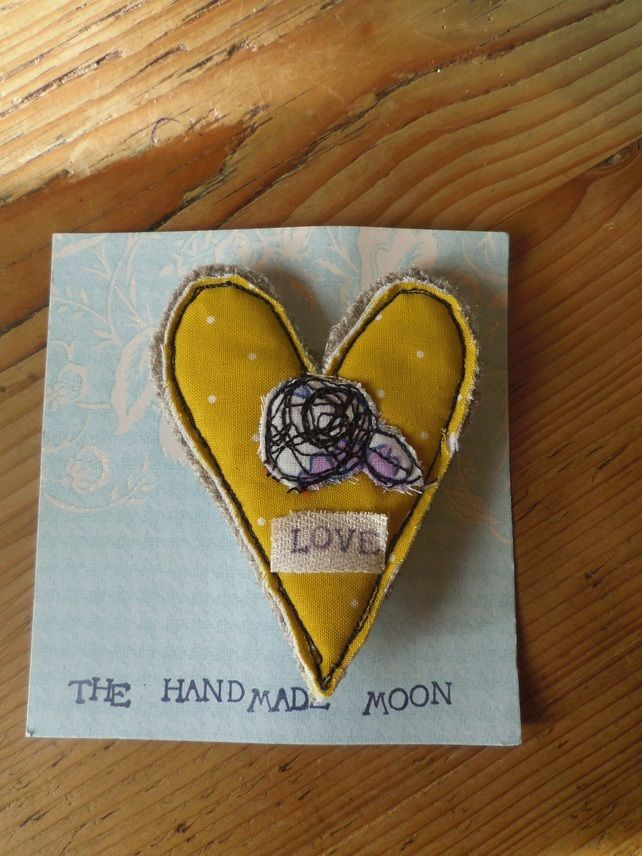 Brooch Textile Heart £6.00 SOLD