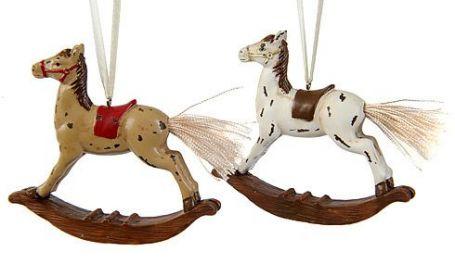 Фото товара «Ёлочная игрушка ЛОШАДКА-КАЧАЛКА полистоун, ретро, 10х1.5х10 см, в ассортименте, KAEMINGK»