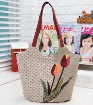 Bag with tulips.