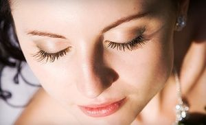 Groupon - Full Set of Synthetic Eyelash Extensions with Optional Fill-In at Lash Logic Studio (Up to 60% Off)  in Pikesville. Groupon deal price: $99