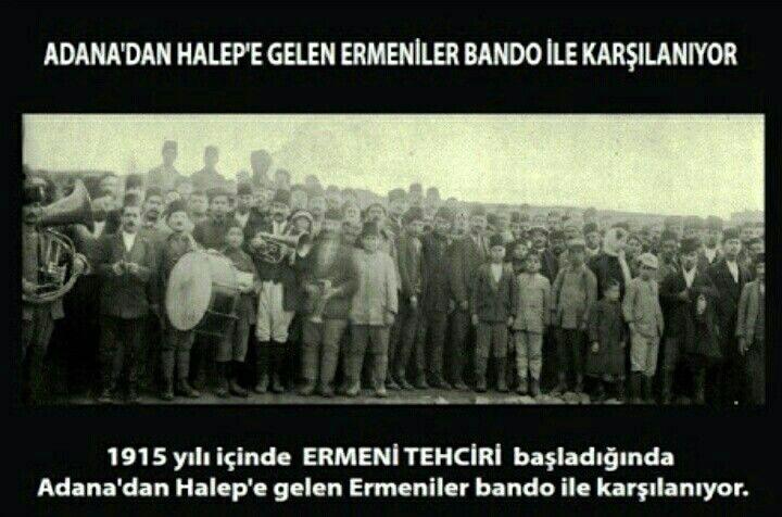 Osmanlı Yöneticileri tarafından Bando ile karsilanan Ermeniler/Halep