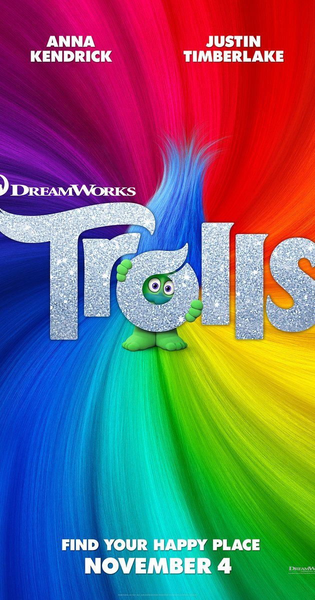 Directed by Walt Dohrn, Mike Mitchell.  With Anna Kendrick, Justin Timberlake, Zooey Deschanel, Christopher Mintz-Plasse. After the Bergens invade Troll Village, Poppy, the happiest Troll ever born, and the curmudgeonly Branch set off on a journey to rescue her friends.