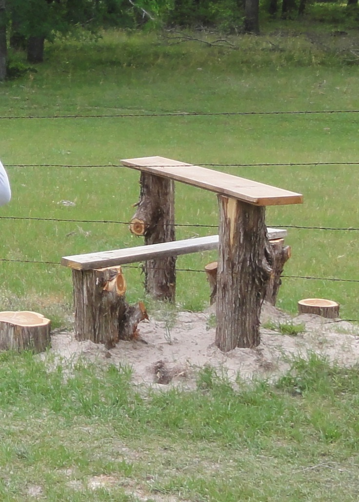 """After a recent tornado, I used the cedar limbs of the downed tree from the front yard to build this cool barbed wire fence """"step over stile"""".  It is so much better than walking 100 yards or more in one direction or the other to get to a real gate. It also beats slipping between the wires and tearing my clothes. And best of all, I never have to worry that it's been """"left open"""" and the cows will get into the yard! I love it!"""